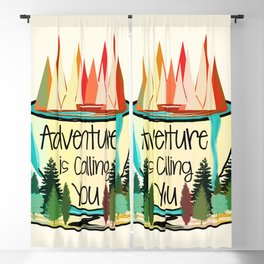 Adventure is Calling You Blackout Curtain