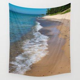 Lake Michigan Beach, Charlevoix - II Wall Tapestry