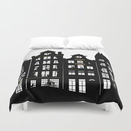 Amsterdam Canal Houses Duvet Cover