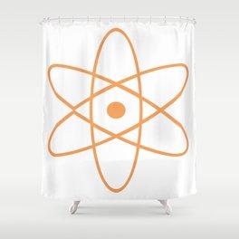 Mid Century Modern Atomic Orange Shower Curtain