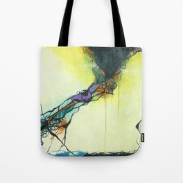 Glass and Smoke  - Square Abstract Expressionism Paintng Tote Bag