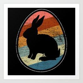 Bunny Easter Egg Art Print