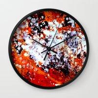 batik Wall Clocks featuring batik by ifcha