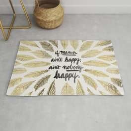If Mama Ain't Happy – Gold Palette Rug