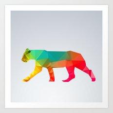 Glass Animal Series - Lioness Art Print