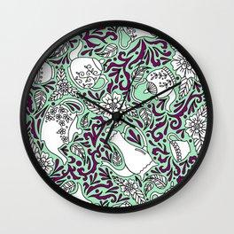 Tea Time Mint Wall Clock