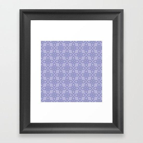 Northern Knot Pattern Framed Art Print