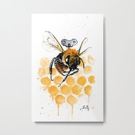 Clockwork Bee III Metal Print