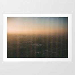LA Sunrise Art Print