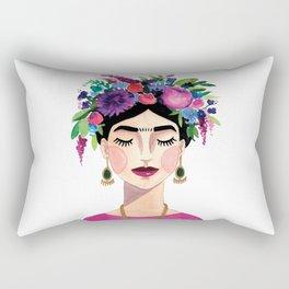 Floral Frida - Pink Rectangular Pillow