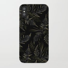 Fern leaves - Black iPhone Case