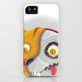 Cyborg cat iPhone Case