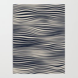 Waving Lines Poster