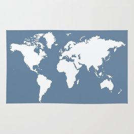 French Gray Elegant World Rug