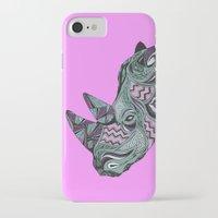 rhino iPhone & iPod Cases featuring Rhino by Cosy Walnut