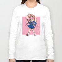 magical girl Long Sleeve T-shirts featuring Salty Magical Girl by eriphyle
