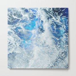 Blue Ocean Glow Metal Print