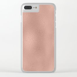 Rose-gold shimmering background Clear iPhone Case