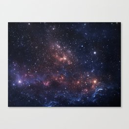 Stars and Nebula Canvas Print