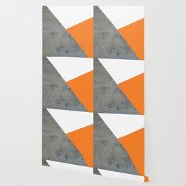 Concrete Tangerine White Wallpaper