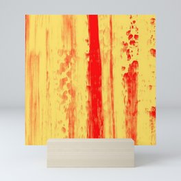 Gerhard Richter Inspired Abstract Urban Rain 3 Mini Art Print