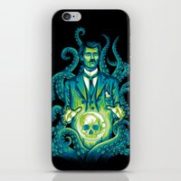 lovecraft iPhone & iPod Skins featuring Everybody loves Lovecraft by David Maclennan