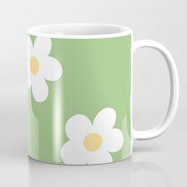 Retro 60's Flower Power Print Coffee Mug