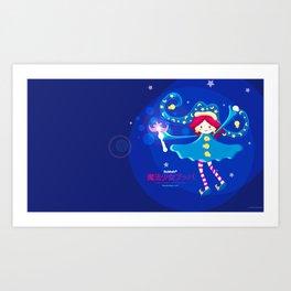 MAHOU SHOJO BUBBAH - Magical girl Bubbah- Art Print