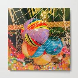 Beach Balls Metal Print