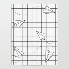 Paper Planes Grid Poster
