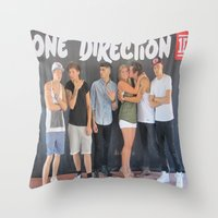 ashton irwin Throw Pillows featuring Mary Ashton by rocknroll