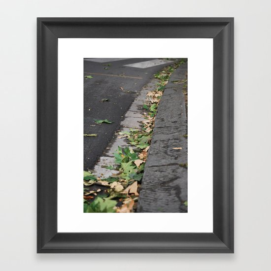 Italy Curb Framed Art Print