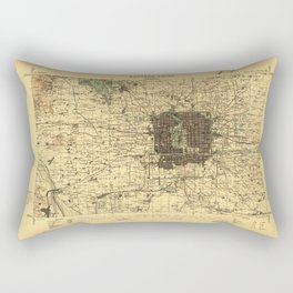 Map of Beijing, China (1926) Rectangular Pillow