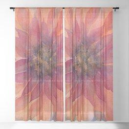 Darling Dahlia Sheer Curtain
