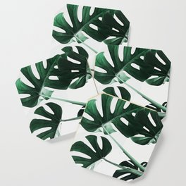 Monstera, Leaves, Plant, Green, Scandinavian, Minimal, Modern, Wall art Coaster