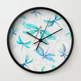 Dragonflies on Paisley Wall Clock