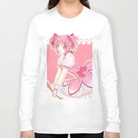 madoka Long Sleeve T-shirts featuring Madoka  by Phadme