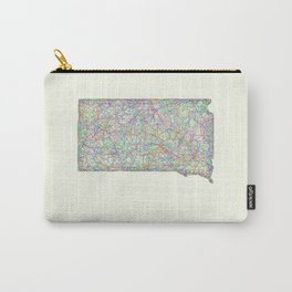 South Dakota map Carry-All Pouch