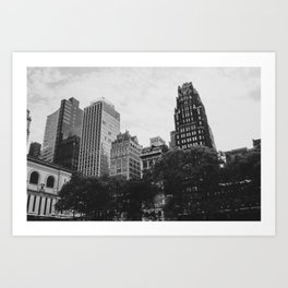 Black & White Bryant Park Art Print