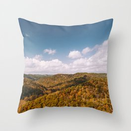 View of Red River Gorge, Kentucky Throw Pillow
