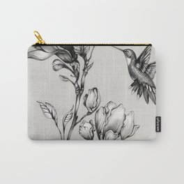 Magnolia Flower and Hummingbird Carry-All Pouch