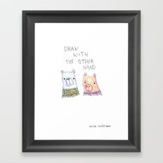 Backhand Bears Framed Art Print