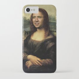 Nicholas Cage Mona Lisa face swap iPhone Case
