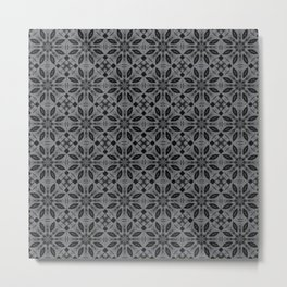 Sharkskin Floral Pattern Metal Print