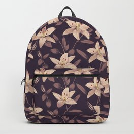 Lilies Pattern Backpack