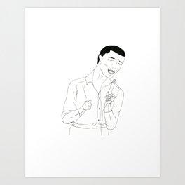 Sam Cooke Sings Art Print