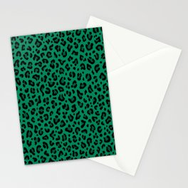 LEOPARD PRINT in GREEN | Collection : Leopard spots – Punk Rock Animal Print Stationery Cards