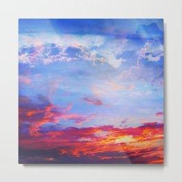 fire clouds v Metal Print