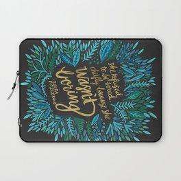 Zelda Fitzgerald – Blue on Black Laptop Sleeve