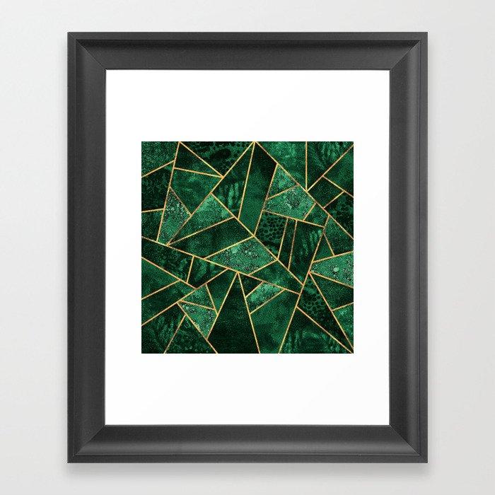 Deep Emerald Gerahmter Kunstdruck
